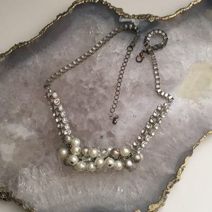 Pearl cluster necklace preppy